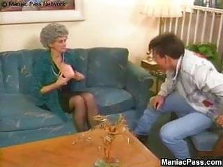 Mature old grandma - Buffed stud fucks old grandma