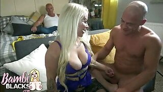 4 foot dwarf gets fucked in front of hubby