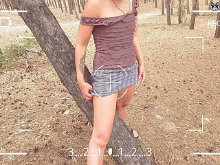Is that cum in me Stranger cum in me in the forest