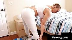 Big Thick Thighs Nina Kayy Pussy Fucked By BBW Jalisa Elite!