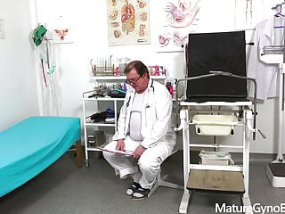 Gyno exam fuck Horny grannys gyno exam and fucking machine orgasm