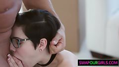 Hot teens swapping  dads