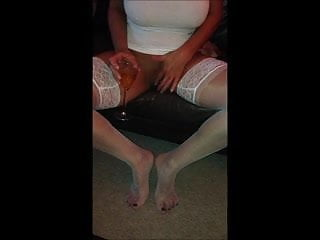 Cutting off pussy lips Wine around her pussy lips 4 me to lick off