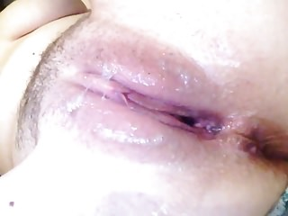 Cream covered breasts Short but sweet 8: pussy covered in sticky cum cream