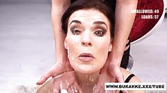 Curvy Hannah Sucks Cock and Swallows Cum in Gloryhole