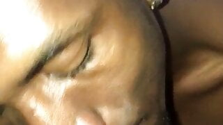 Licking my hairy pussy