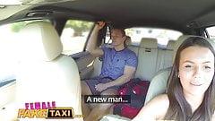 FemaleFakeTaxi Businessman strikes sexual deal with driver