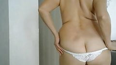 mommy in white panties