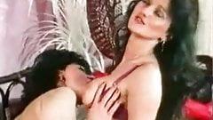 Bushy slut and horny boyfriend invite slut for hot 3som mff