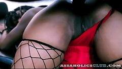 Hard anal banging for the flamboyant black girl