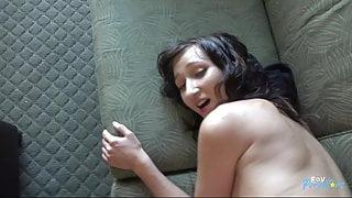 Petite Brunette Spinner Makes a Sex Tape