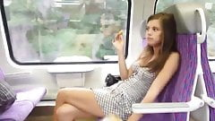 Very Sexy Teen Flesh in a Train