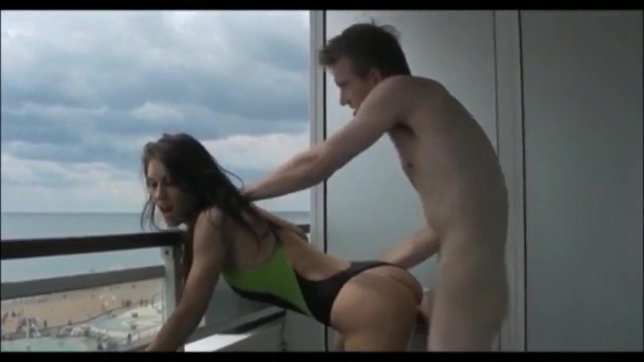 Two Boys Fuck Extrem Hot Cute German Teen On Balcony