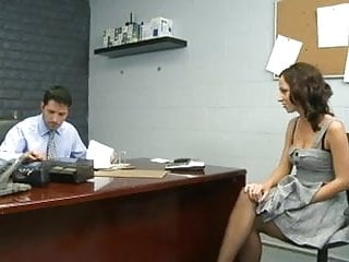 Stock pot bottom - Lusty secretary has her pantie pot poked,by blondelover