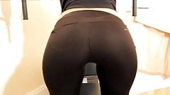 black spandex in the gym