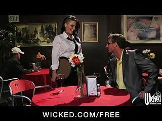 Busty christy video Big-booty waitress christy mack fucks a customer in the bath