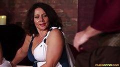 CFNM Babe Sucks Off A Roman Until He Cums In Her Face
