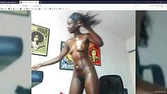 Sexy pretty pink pussy, dark ebony latina