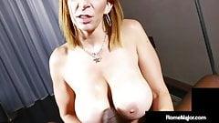 Dick Sucking Milf Sara Jay Blows Big Dick Bro Rome Major!