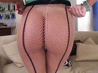 Three-legged pantyhose August ames makes you cum three times