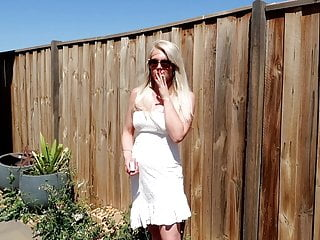 Smoking multiple cigarettes fetish - Preview outdoor blonde chain smoking cigarettes fetish