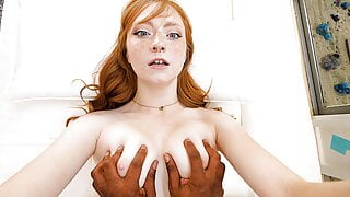 Innocent redhead takes on a BBC for the first time
