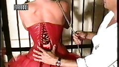 firmly tighten the corset female slave
