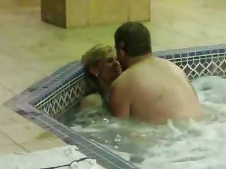 Lesbians fucking in a tub - Couple fucking in hotel hot tub - part 2
