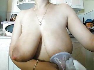 Bondage maiden - Milk maiden sucking her nipples