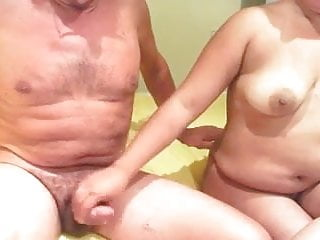 69 position threesome Mature couple enjoys 69 position oral pleasures in homemade
