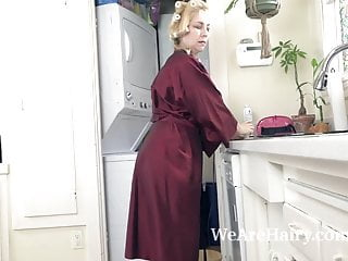 Kitchen electrical receptacle strip Badd gramma strips naked in her kitchen