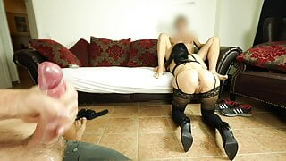 Stranger fucks your wife while you jerk off