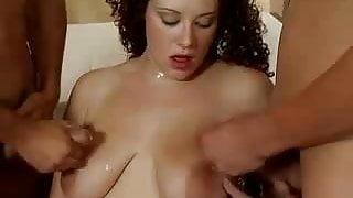 Curly german pregnant gangbang