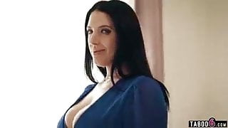 Angela White's big natural tits take over