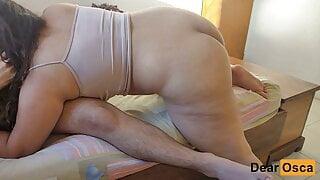 HORNY MILF BIG ASS SUCKS & RIDES HER STEPDAUGHTER'S BF COCK