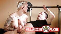 Geile workout met Mila Milan