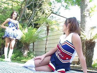 College co-eds having sex Small tits teen cheerleaders have sexytime after practice