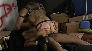 DP (Bear Muscle daddy Bareback Fucked By 2 daddies)