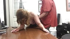 boob Mature wife gets multiple orgasms with boss fucking hot