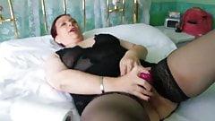 Cristina Cavargic - hot didlo fuck in Nylons