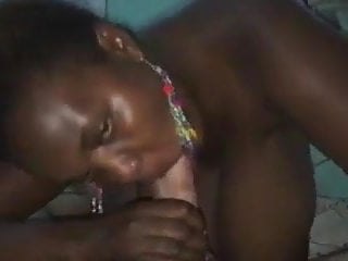 Huge boobs sucks cock Black slut from kenya with huge saggy boobs sucks