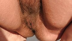 Hairy mature on the beach (part 2)