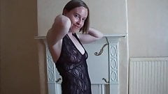 Shy wife does striptease for Husband's friend