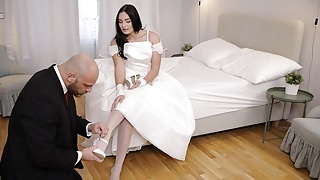 RIM4K. Strong man in awesome wedding suit deserves gentle rimming