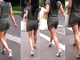 Hairy legged woman 98 woman with sexy ass and legs in transparent shorts