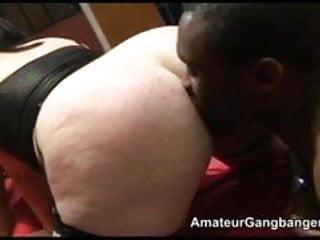 British chubby porn - Chubby amateur does an anal gangbang