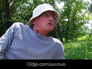 Naked old man boner Sweey alessandra fucked in park by big old boner