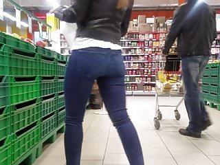 Cute ass in Cute ass in supermarket