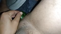 double cucumber in gay asshole