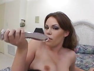 Big black chicks cock - Hot chick takes a big black cock up her butt